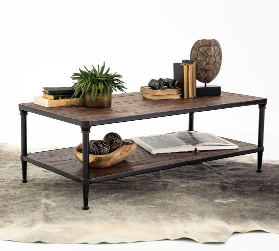 juno 48 rectangular reclaimed wood coffee table