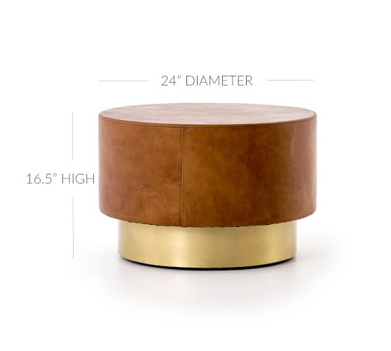 fleet 24 round leather coffee table