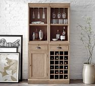 wine rack cabinet furniture pottery barn