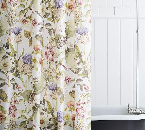 thistle organic shower curtain