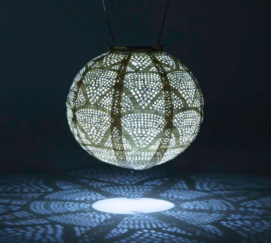 boho globe solar indoor outdoor lantern