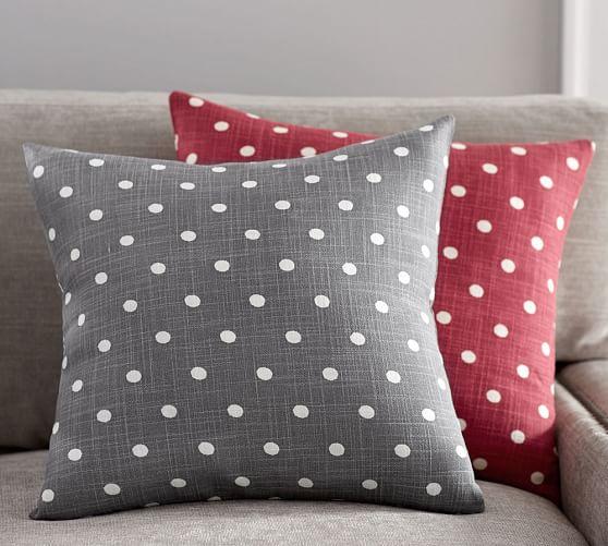 polka dot decorative pillow cover
