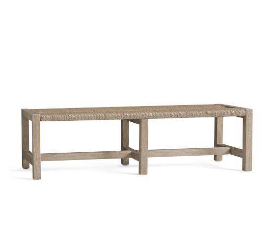 farmhouse woven bench bedroom bench