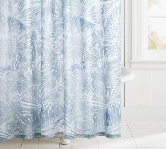 layla palm organic shower curtain