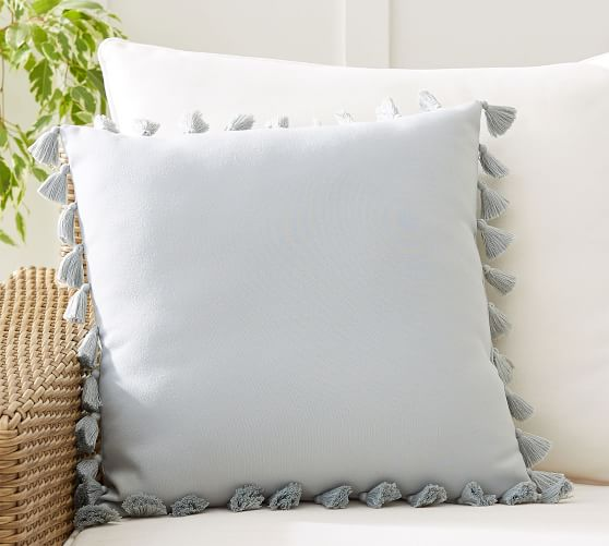tassel trim indoor outdoor pillows