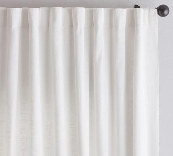 emery linen cotton rod pocket curtain