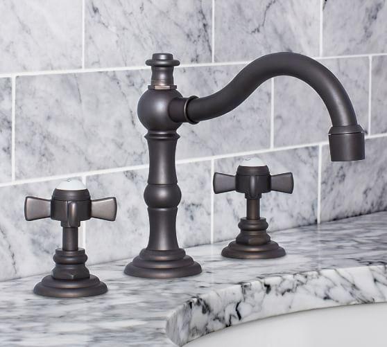 mercer cross handle widespread bathroom sink faucet
