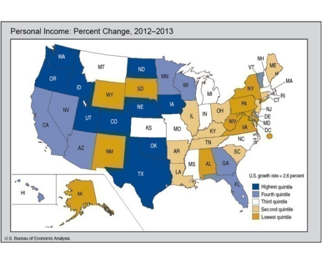 Rhode Islands Personal Income Rose 2 6 Percent In 2013 Matching The U S National Average And