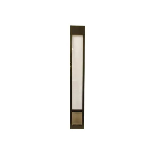 petsafe freedom aluminum patio panel sliding glass pet door bronze medium