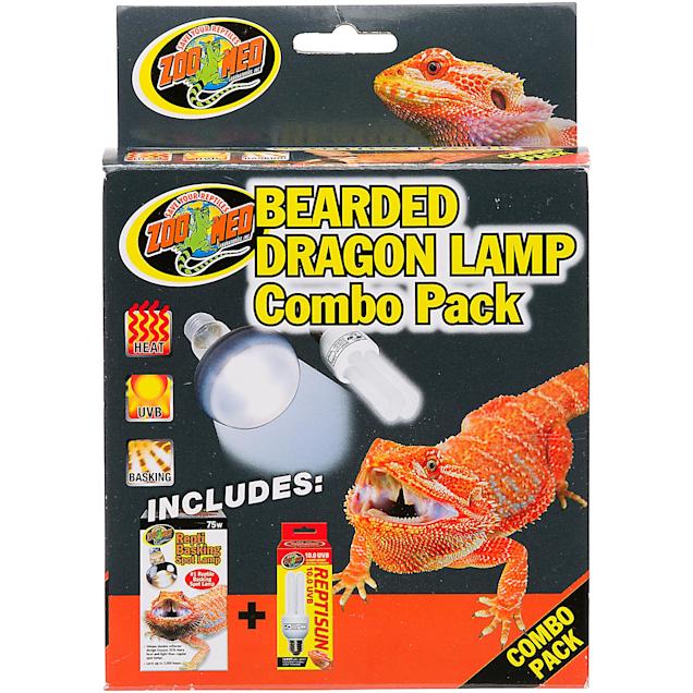 zoo med bearded dragon lamp combo pack pack of 2 bulbs