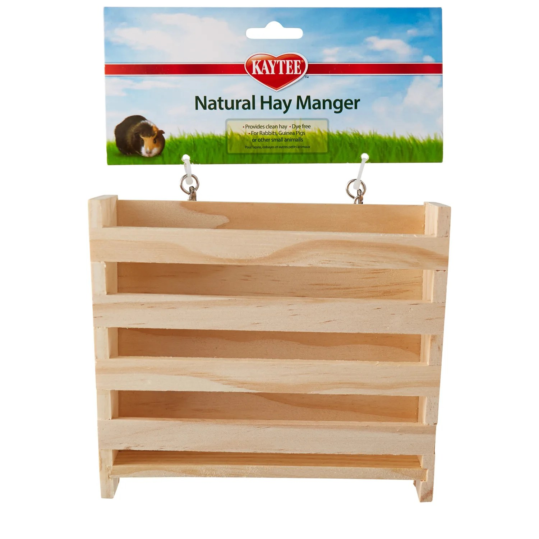 kaytee small animal natural hay manger feeder 6 5 l x 2 5 w x 6 h