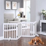 Unipaws Flat Wooden Freestanding 4 Panel White Dog Gate 20 80 W X 24 H Petco
