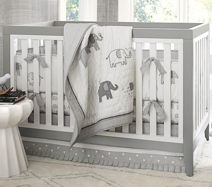 Taylor Elephant Crib Bedding Set Pottery Barn Kids