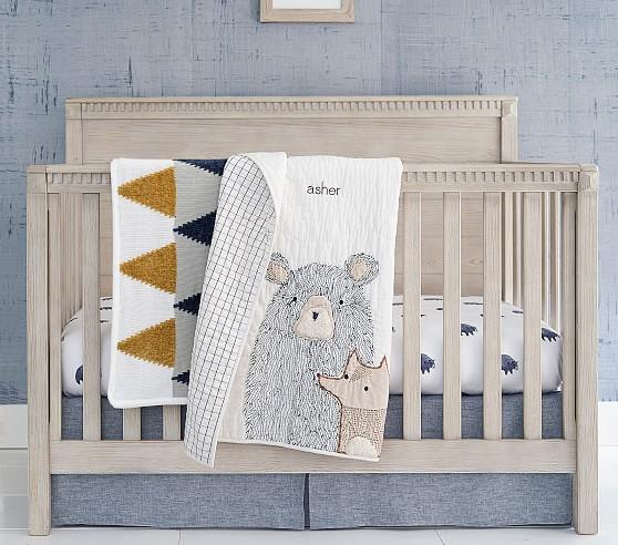Asher Bear Crib Bedding Sets Pottery Barn Kids