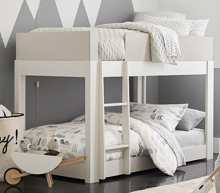 milo twin over twin low bunk bed