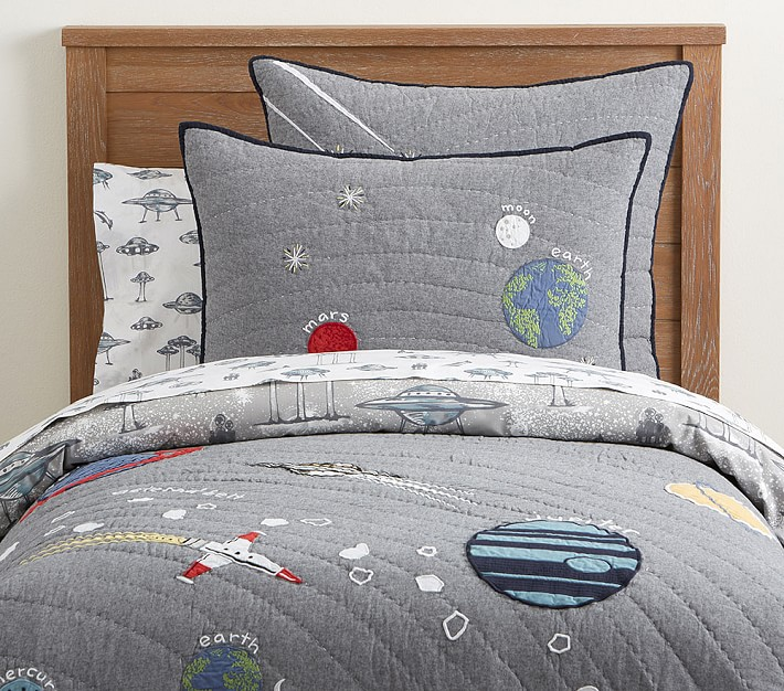 outer space kids comforter set