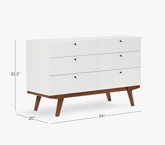west elm x pbk modern 6 drawer dresser