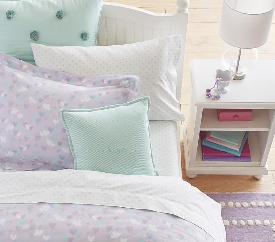 pin dot organic sheet set pillowcases