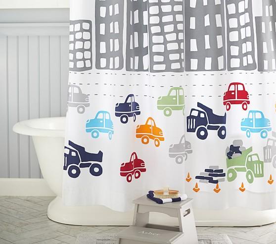 transportation kids shower curtain