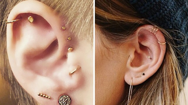 13 Unique Ear Piercing Combos That Youll DEFINITELY Want