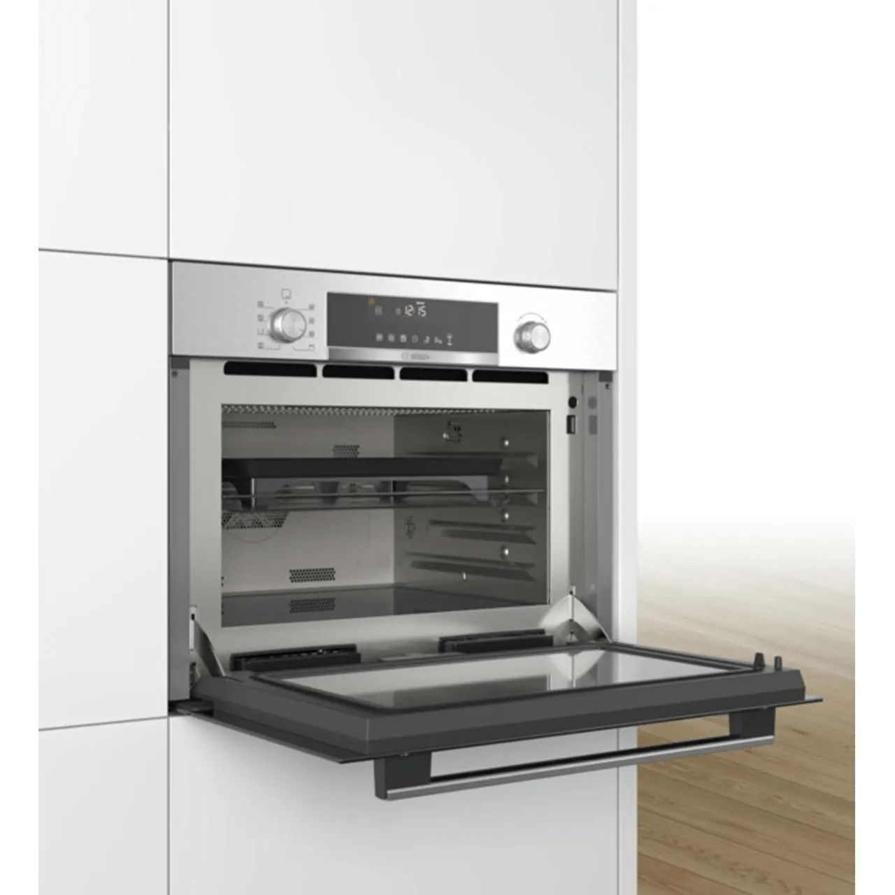 bosch serie 6 cpa565gs0b built in combination microwave oven stainless steel
