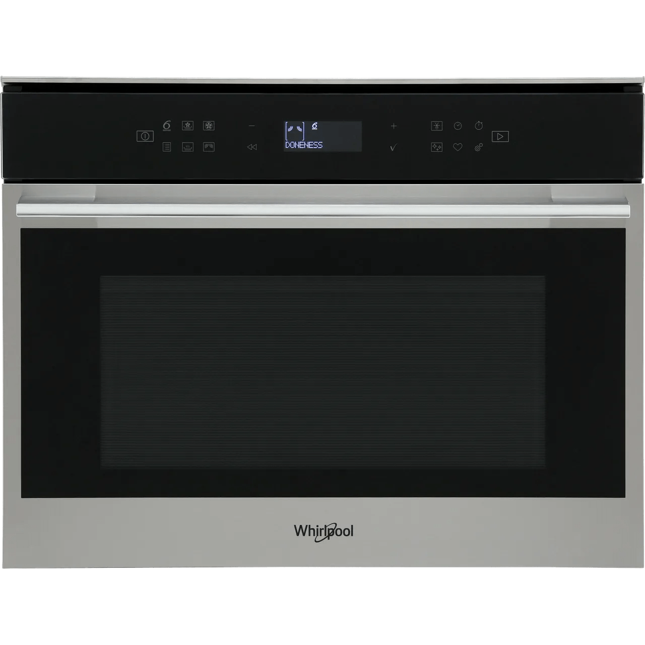 whirlpool w collection w7mw461uk built in combination microwave oven stainless steel