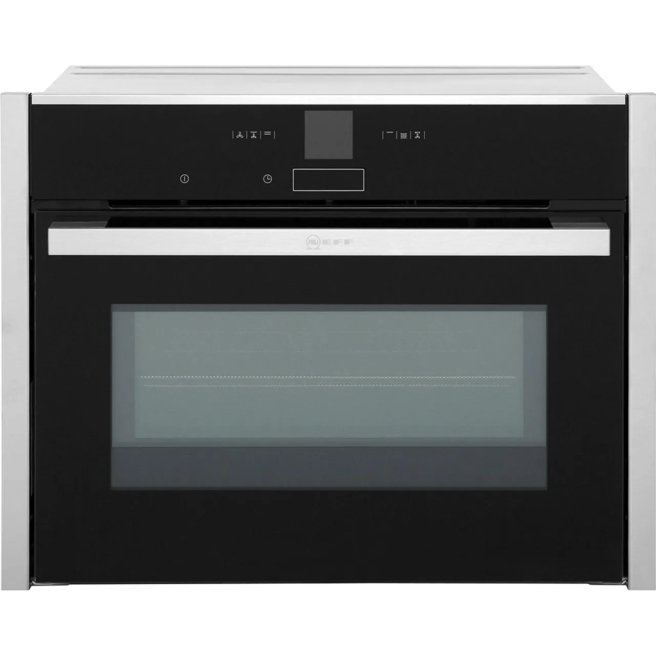neff n70 c17mr02n0b built in compact electric single oven with microwave function stainless steel