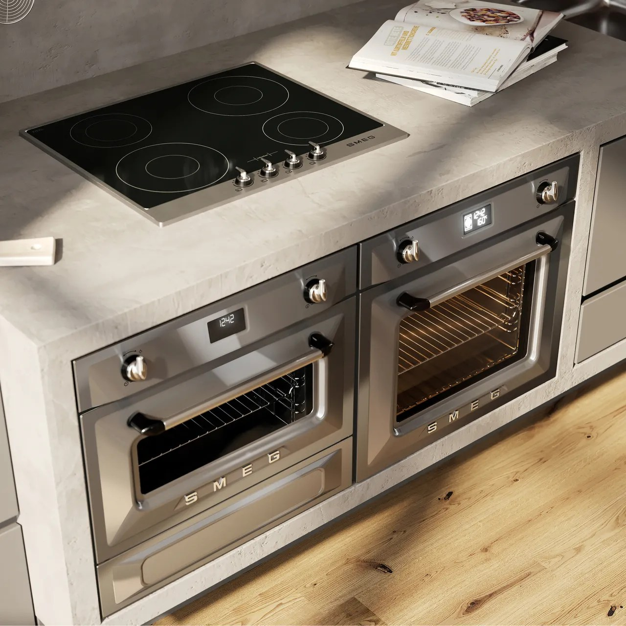 smeg victoria si964xm 60cm induction hob stainless steel