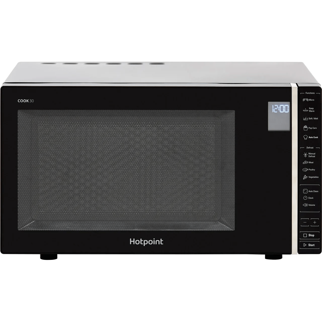 hotpoint cook 30 mwh301b 30 litre microwave black