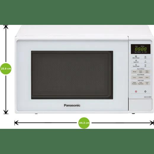 panasonic nn e27jwmbpq 20 litre microwave white