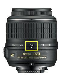 Фокусное расстояние объектива, на котором вы снимаете, указано на нем.
