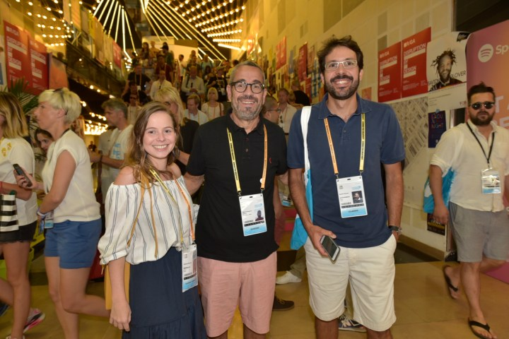 Flavia Souza (BRMALLS), Marco Antonio Souza (Postercope), Daniel Simões (Eletromidia)