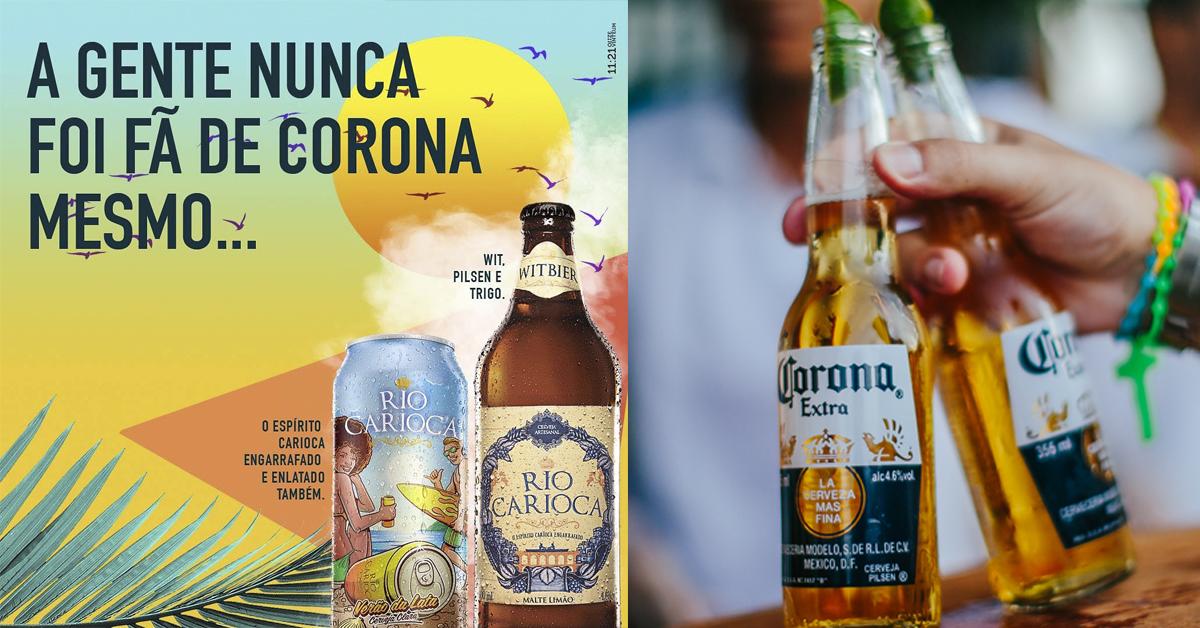 Cerveja brasileira tira sarro da Corona em post de oportunidade - propmark
