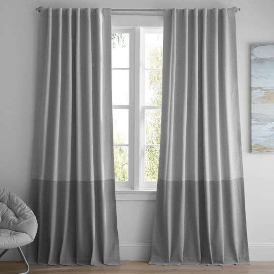 color block blackout curtain set