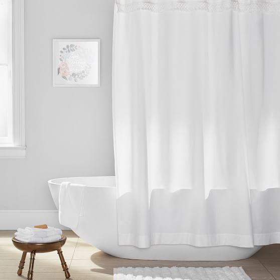 border fringe teen shower curtain
