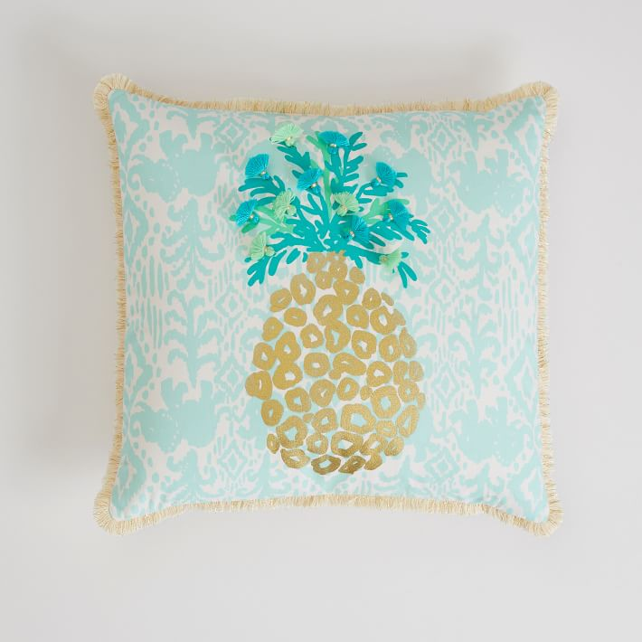 lilly pulitzer pineapple pillow cover