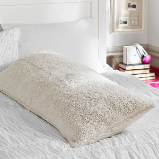 faux fur sherpa body pillow cover