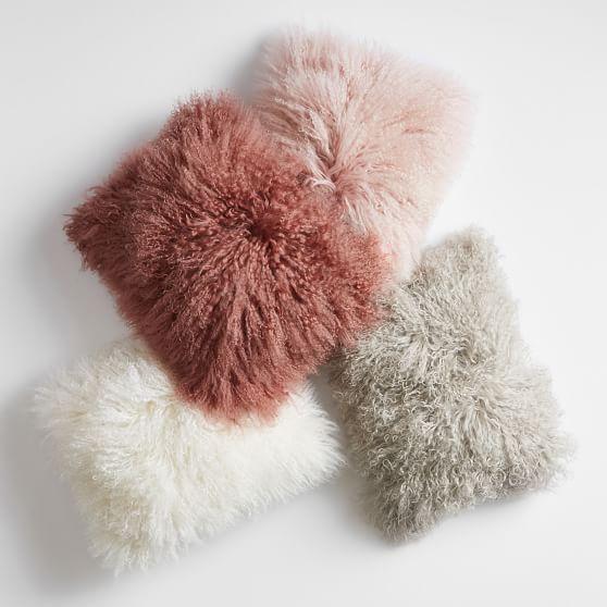 mongolian fur pillow cover