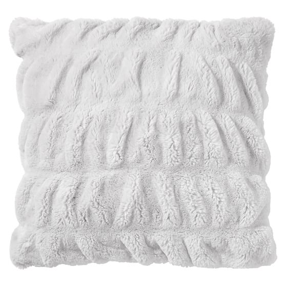 ruched faux fur pillow covers pottery