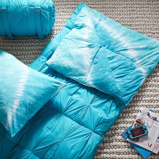 tie dye girls sleeping bag pillow