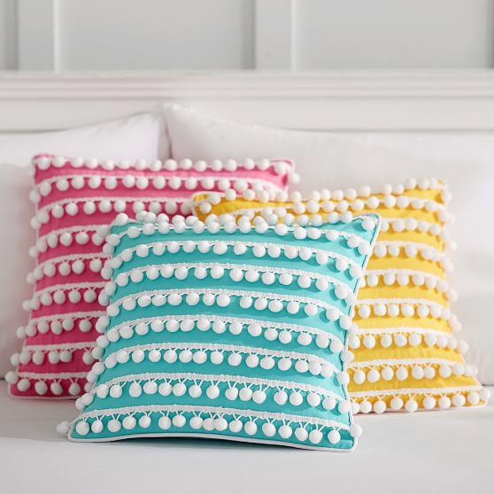 poolside pom pom pillow covers