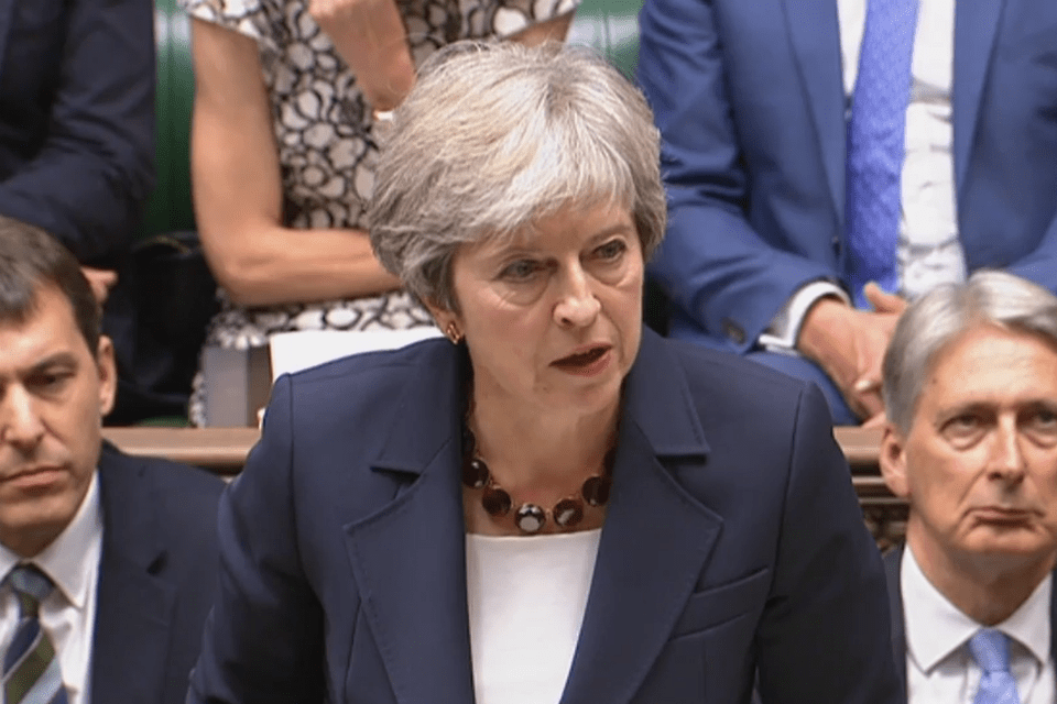 Prime Minister Theresa May giving an update to the House of Commons about the Salisbury incident on 5 September 2018