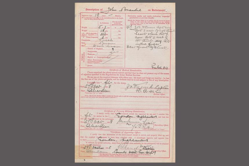 World War 1 service records, Crown Copyright