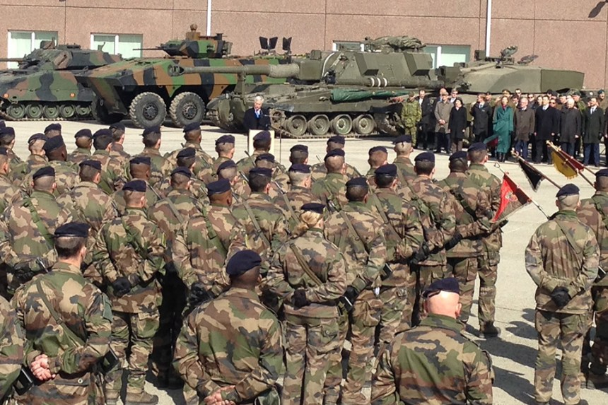 Defence Secretary Sir Michael Fallon today met UK troops deployed with NATO to Estonia. Crown Copyright.