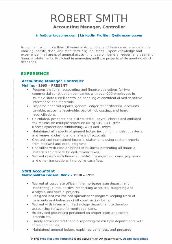 accounting resume objective statement samples