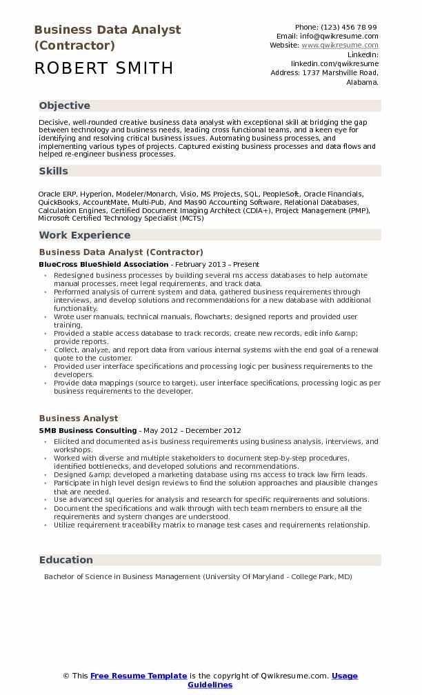 Data Analyst Resume - Resume Sample