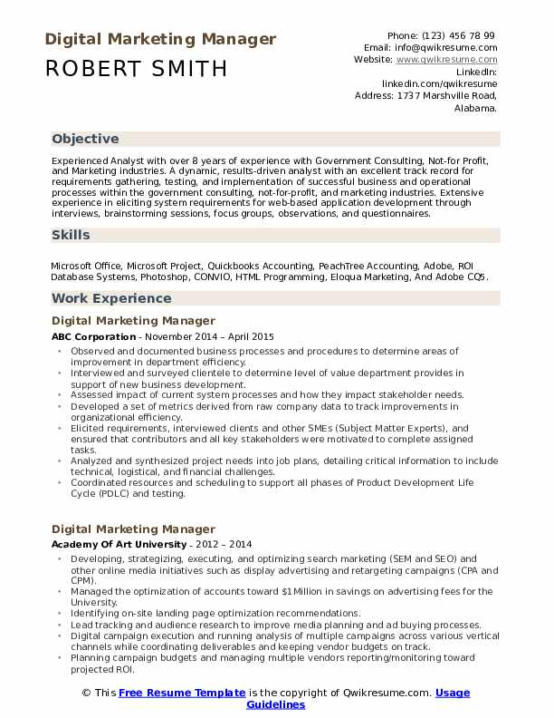 11/10/2017· your mission statement is actually the statement of purpose of your email marketing resume sample and that is why, don't just copy and paste from a good resume. Digital Marketing Manager Resume Samples Qwikresume