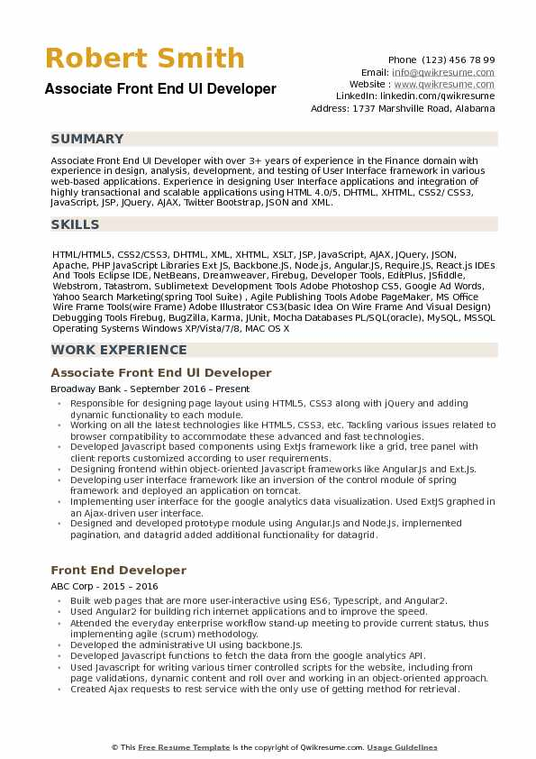 Website developer iv with 28 years of experience is seeking to secure a challenging position with a progressive organization, where my knowledge and skills will allow me to become a contributing member of a successful team. Html Css Web Developer Resume September 2021