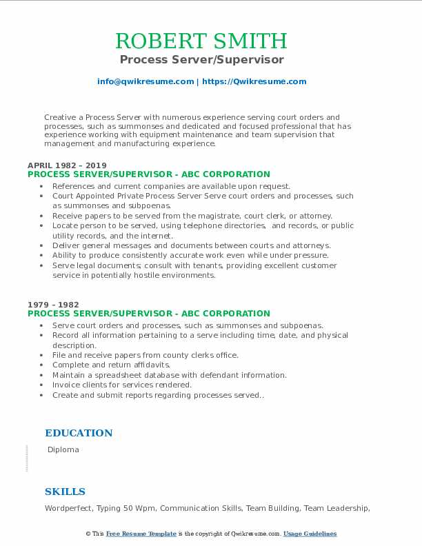 12/04/2007· • evaluate and apply skills that enhance academic, professional and personal success, define the basic elements and principles of law, find relevant primary and secondary legal sources in electronic and print media, and apply them to specific fact scenarios, gather information from diverse sources through investigative techniques, produce legal documents that synthesize and analyze … Process Server Resume Samples Qwikresume