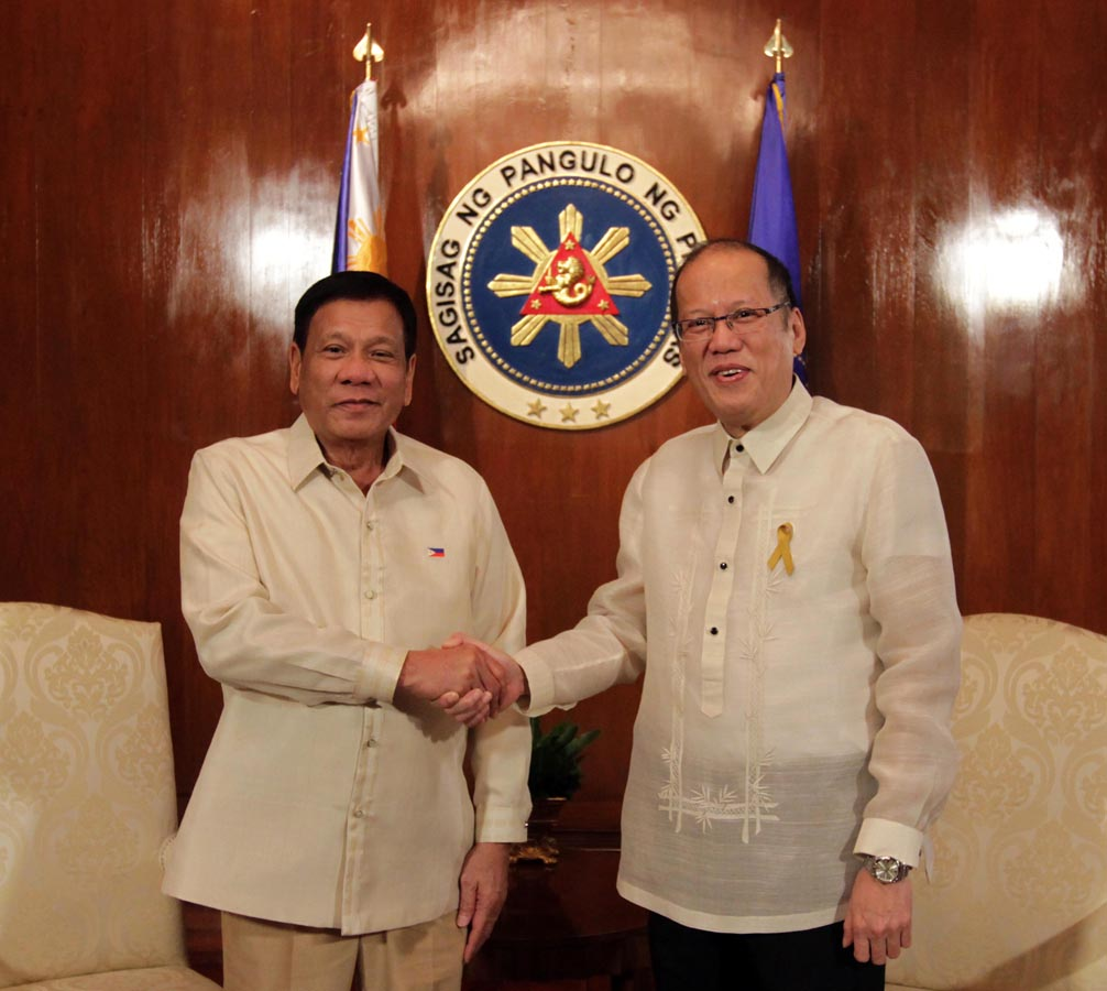 Image result for aquino and duterte
